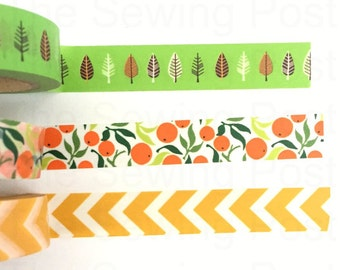 Washi Tape Set: Orange Tree