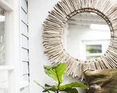"The Original 36"" Double Layer Round Driftwood Mirror 