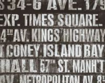 Eclectic Elements Subway Signs