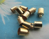 Promotion sale 100pcs 10x7mm KC Gold tassel caps/cord end/cord terminer charms findings