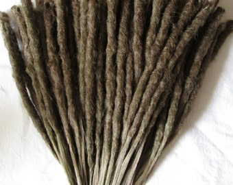 CUSTOM short crochet synthetic dreadlock extensions - natural look, single ended, 60 pieces.