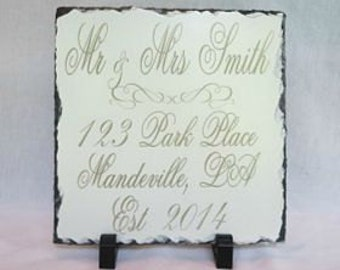 Personalized Slate Tile - Personalized Wedding Gift - New Home Gift Customized - Customized Slate - New Home GIft - Handcrafted Slate Gift