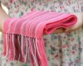 handwoven wrap pink merino wool scarf for baby READY TO SHIP! Baby Scarf