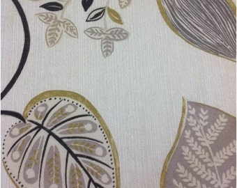 Harlequin Samara Fabric in black and gold by the half metre