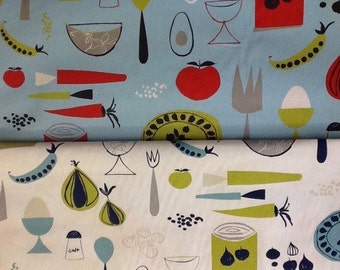 Harlequin Scion Peas and Carrots kitchen design by the half metre