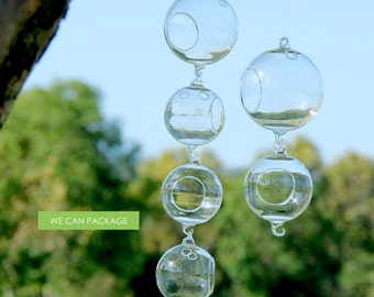 Hanging Glass Globes 6/pack - We Can Package