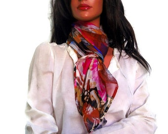 Silk Chiffon Sheer Scarf Wrap Shawl