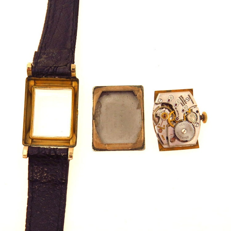 vintage gruen precision veri thin 21 jewels watch by. Black Bedroom Furniture Sets. Home Design Ideas