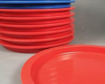 12 Dansk, Gunnar Cyren, GC,  melamine, melmac, plastic dinner plates