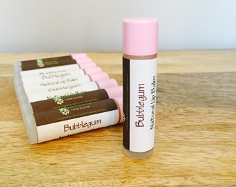 Bubblegum Lip Balm, Organic and All Natural