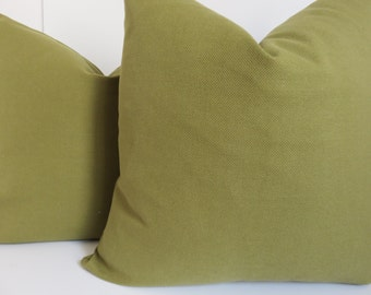 Pillow cover, Green Pillow, Solid Green Pillow, Olive Pillow, Green olive pillow, Decorative pillow