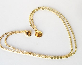 Gold Emoji Necklace, Gift for Her, Tween Jewelry, Love Face Charm Necklace, Niece Gift, Trendy Jewelry