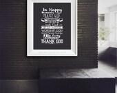 House Rules. Thank God.  Praise God Print.  Inspirational Print