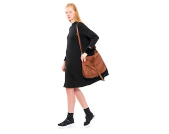 Leather Tote - Brown leather bag