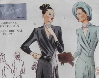 vogue vintage model sewing pattern 2354 size 10 uncut repro of original 1947 design