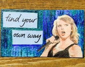 Iconic Taylor Swift Oil Hand Painted Magnet ACEO