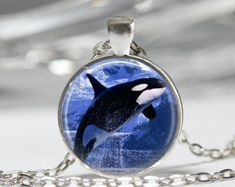 Orca Necklace Orca Jewelry Ocean Necklace Nautical Jewelry