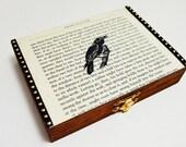 Raven on Vintage Literature Jewelry Box
