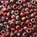 8/0  Picasso Red Garnet Opaque Seed Beads # 4514