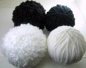 Yarn balls, 4 balls, 30 yards each, set W2, destash sale knitting, crochet, craft yarn