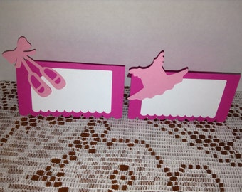Cute Ballerina Tent Cards Set of 10