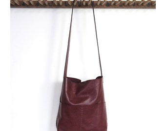 Alesia - Leather Bag - Wine