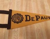 DePauw University Vintage Felt Pennant