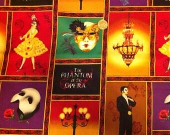 Phantom of the Opera Cotton Fabric - Masquerade