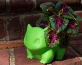 Bulbasaur Planter 3D Printed Pokemon Fan Art Small Medium Large Available
