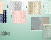 Crib Bumpers / Six Piece Baby Bedding Bumper Pad  / Grey Pink Coral Blush Navy Grey Taupe Tan Geometric Chevron