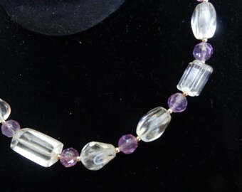 Vintage beaded necklace 60s 70s