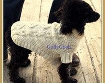 PDF Knitting Pattern for a Bones N' Biscuits Dog Sweater/Jacket  - Instant Download