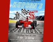 Racing/Race Car Birthday Invitation