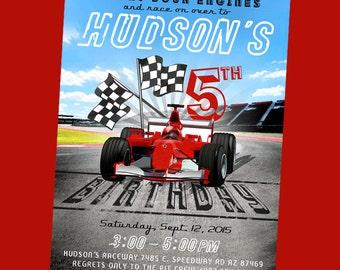 Racing/Race Car Birthday Invitation