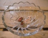 Large OLD Antique German Glass Bowl ~ Beautiful for FOOD Presentation // Home Decor // Entertaining //