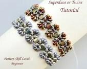 EPI de BLÉ superduo beaded bracelet beading tutorial and pattern seed bead beadwork jewelry beadweaving tutorial beading pattern instruction