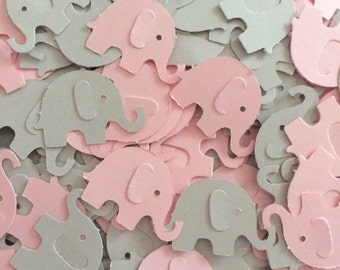 Elephant Baby Shower - CUSTOMIZE YOUR COLORS.  Girl Elephant Confetti, Girl Elephant Baby Shower, Elephant Confetti (100 Count)