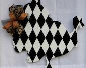 Turkey Door Hanger, Fall Door Hanger, Black and White Turkey, Thanksgiving