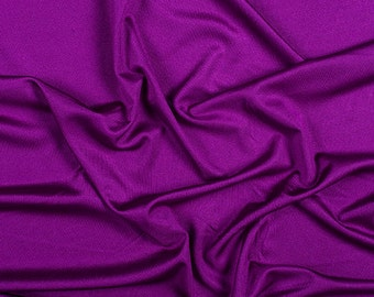 "54"" Wide 100% Silk Knit Jersey Magenta (pink purple) by the yard"