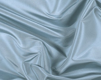 "54"" Wide 100% Silk Taffeta Dusty Blue by the yard"
