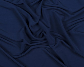 "58"" Wide 100% Rayon Matte Jersey Navy Blue by the yard"