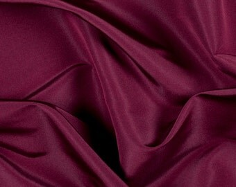 "54"" Wide 100% Silk Faille Burgundy by the yard"