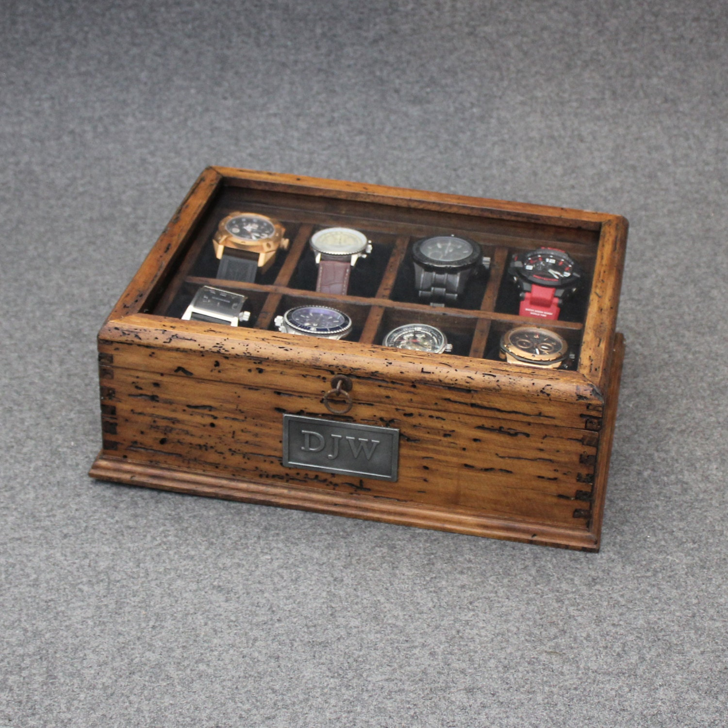 New Personalized Rustic Men S Watch Box For 8 By