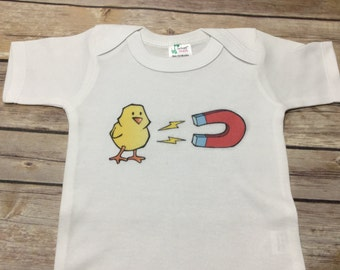 Chick Magnet One Piece or shirt (Custom Text Colors/Wording)