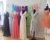 The ONE Dress multi wrap infinity wear SHORT or HANKY hem convertible bridesmaids dress