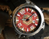 Gifts for Men - Limited Edition - Recycled Skateboard Watch - Second Shot Skate Watch