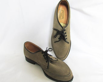 Kids Vintage Shoes Suede Oxfords 60s 70s NOS 2