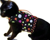 Halloween Polka Dot Cat Harness Cat Costume Pet Costume cat clothes cat clothing