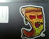 Zombie Pizza VINYL STICKER by brutalsquid monster horror