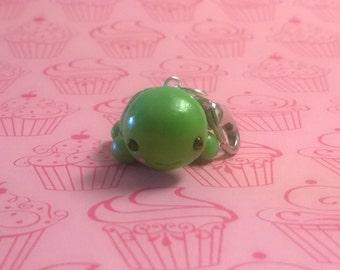 Green Turtle Polymer Clay Keychain Charm Doll Animal Figurine Miniature ooak Gift Cute Kawaii
